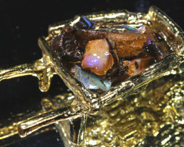 138 CTS  WHEEL BARROW WITH OPALS   OF-2916  OPALSFOREVER