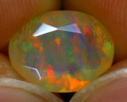 Welo Opal 1.68Ct Natural Faceted Ethiopian Play of Color Opal G0307/A44