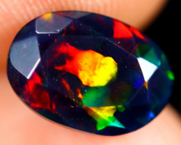 1.64cts Natural Ethiopian Welo Faceted Smoked Opal / HM3270