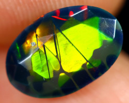1.31cts Natural Ethiopian Welo Faceted Smoked Opal / HM3275
