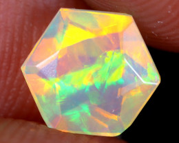 0.79cts Natural Ethiopian Hexagon Faceted Welo Opal / NY3531