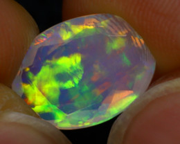 Welo Opal 1.52Ct Natural Faceted Ethiopian Play of Color Opal G0408/A44
