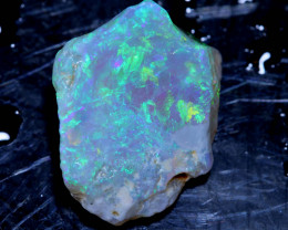 3.75 Cts- Lightning Ridge Crystal  Rough opal    Ado- 9871    Adopals