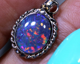 6.46 CTS SILVER TRIPLET OPAL PENDANT OF-2932   Opalsforever