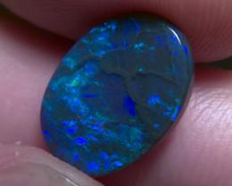 4.30cts lightning ridge black opal, blue green colours, N1 body tone