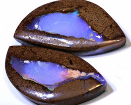 33.25CTS BOULDER PIPE  OPAL  PAIR  NC-9819    Niceopals
