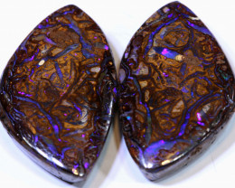 26.20CTS BOULDER PIPE  OPAL  PAIR  NC-9824    Niceopals