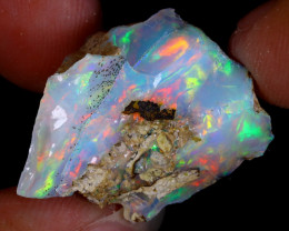 19cts Natural Ethiopian Welo Rough Opal / WR9029