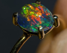 14k Solid Gold - 4.95ct Mexican Crystal Opal (OM)