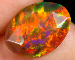 Rose Cut 2.42cts Natural Ethiopian Smoked Welo Opal /BF9241