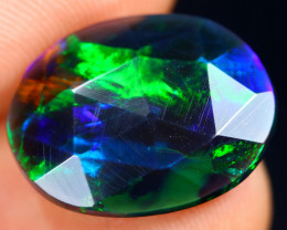Rose Cut 3.02cts Natural Ethiopian Smoked Welo Opal /BF9257
