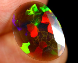 Rose Cut 2.02cts Natural Ethiopian Smoked Welo Opal /BF9260