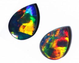 0.90 cts Australian Gem Opal Doublet Pair  RD 331