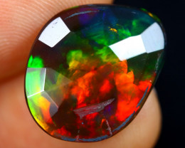 Rose Cut 3.43cts Natural Ethiopian Welo Smoked Opal / BF9152