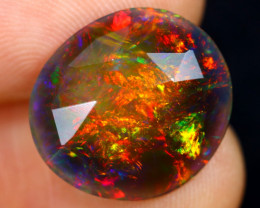 Rose Cut 3.15cts Natural Ethiopian Smoked Welo Opal /BF9270