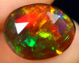 Rose Cut 2.46cts Natural Ethiopian Smoked Welo Opal /BF9275