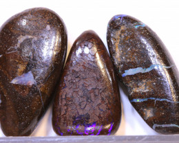 36.65 CTS-Boulder Opal Bead Parcel 3- pcs  Ro-2027   raniopals