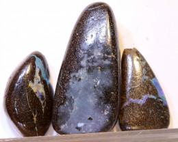54.05 CTS-Boulder Opal Bead Parcel 3- pcs  Ro-2031  raniopals