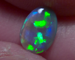 Lightning ridge dark opal, brilliant multicolours and puzzle pattern