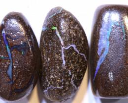 36.70 CTS-Boulder Opal Bead Parcel 3- pcs  Ro-2036  raniopals