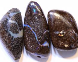 45.15 CTS-Boulder Opal Bead Parcel 3- pcs  Ro-2040   raniopals