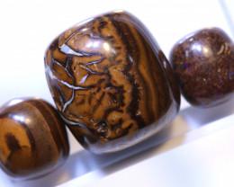 52.60 CTS-Boulder Opal Bead Parcel 3- pcs  Ro- 2066 raniopals