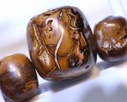 76.70 CTS-Boulder Opal Bead Parcel 3- pcs  Ro-2067  raniopals