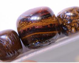 80.55 CTS-Boulder Opal Bead Parcel 3- pcs  Ro-2068  raniopals