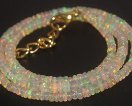 34.80 Crts Natural Ethiopian Welo Opal Beads Necklace 715