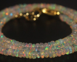 30.70 Crts Natural Ethiopian Welo Opal Beads Necklace 716