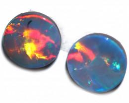 1.00 cts Australian Gem Opal Doublet Pair  RD 375