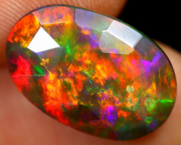 `Rose Cut 3.18cts Natural Ethiopian Smoked Welo Opal /BF9287