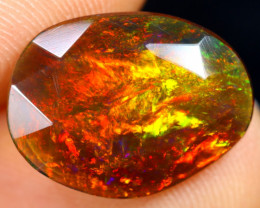 Rose Cut 2.51cts Natural Ethiopian Smoked Welo Opal /BF9291