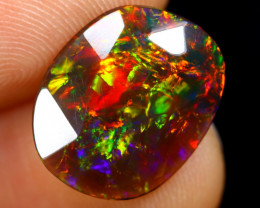 Rose Cut 2.30cts Natural Ethiopian Smoked Welo Opal /BF9292