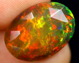 Rose Cut 4.90cts Natural Ethiopian Smoked Welo Opal /BF9298