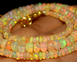 42.65 Crts Natural Ethiopian Welo Opal Beads Necklace 791