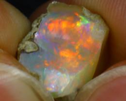 5.84Ct Multi Color Play Ethiopian Welo Opal Rough J1213/R2