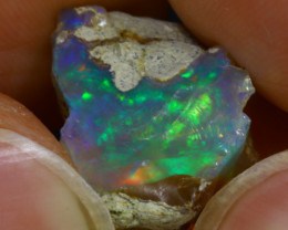 8.78Ct Multi Color Play Ethiopian Welo Opal Rough J1216/R2