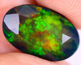 2.40cts Natural Ethiopian Welo Faceted Smoked Opal / HM3310