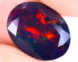 2.27cts Natural Ethiopian Welo Faceted Smoked Opal / HM3311