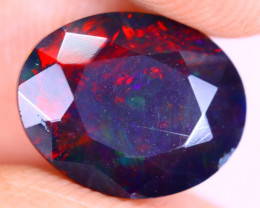 1.93cts Natural Ethiopian Welo Faceted Smoked Opal / HM3322