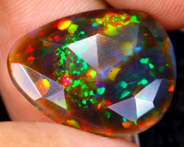 Rose Cut 4.77cts Natural Ethiopian Smoked Welo Opal /BF9311