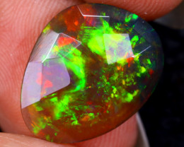 Rose Cut 2.76cts Natural Ethiopian Smoked Welo Opal /BF9323