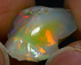 10.35Ct Multi Color Play Ethiopian Welo Opal Rough H1309/R2