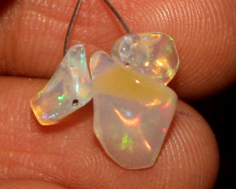 2.50 Crt Natural Ethiopian Welo Opal Carvin 3 Pieces Lot 20
