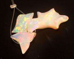 8.20 Crt Natural Ethiopian Welo Opal Carvin 3 Pieces Lot 26