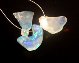 3.65 Crt Natural Ethiopian Welo Opal Carvin 3 Pieces Lot 45