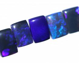 5.60 Cts  Set of 5 Nice Oblong Shape Black Opal Code RD 441