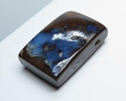 41.18ct Australian Boulder Opal Stone - drilled pendant
