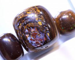 53.75 CTS-Yowah Opal Bead Parcel 3- pcs  Ro-2090   raniopals